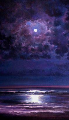 """""""Time and Tide"""" Painting by Keith P Burnett NOTE great painting even without the ocean; sky only - mjm"""