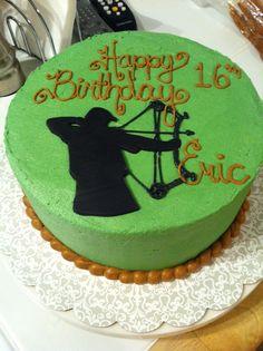 bow hunting cake