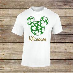 Personalized Mickey Shamrock Shirt