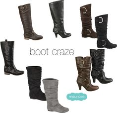 A fashion look from September 2012 featuring slipon boots, mid calf length boots and fold over cuff boots. Browse and shop related looks. Boots 2017, Boot Cuffs, Dream Shoes, Shoe Closet, Bootie Boots, Addiction, Wedges, Booty, Sandals