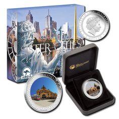Австралия 1 доллар, 2013 год. Города побратимы. Санкт-Петербург и Мельбурн. Компания «Конрос»