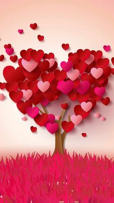 My heart tree is full of love for you , Beautiful Lady. Diy And Crafts, Paper Crafts, Heart Tree, I Love Heart, Happy Valentines Day, Valentine Music, Valentine Tree, Heart Shapes, Iphone Wallpaper