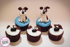 Sweet Cucas and Cupcakes by Rosângela Rolim: Mini Cupcakes Tema Pets