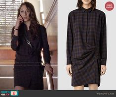 Spencer's plaid shirtdress on Pretty Little Liars. Outfit Details: http://wornontv.net/46982/ #PLL