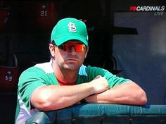 """Mike Matheny in Cardinal """"Green"""" on St.Patrick's Day"""