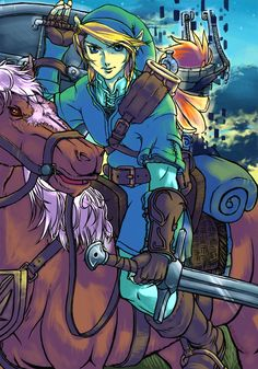Link,midna and epona by ~SFDwashere on deviantART