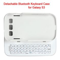 Slide wireless bluetooth 3.0 detachable keyboard case for samsung galaxy s3 i9300