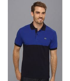 Lacoste Short Sleeve Color Block Pique Polo Shirt