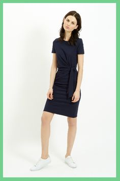People Tree. Elsa Dress in Navy. SS16. www.peopletree.co.uk. via International Business Times
