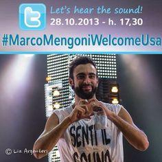 Lunedì 28 ottobre dalle 17.30 CET tutti su twitter per #MarcoMengoniWelcomeUsa. Are you ready? -> http://www.facebook.com/events/684865278191067/