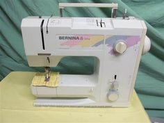 My machine: Bernina 1004. It was a gift from my parents when I graduated from college in 1990. It's a wonderful machine and I've never had to have it professionally serviced. Built like a tank!
