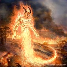 female fire Elemental | May not subterraneous fire be ...Female Fire Elemental