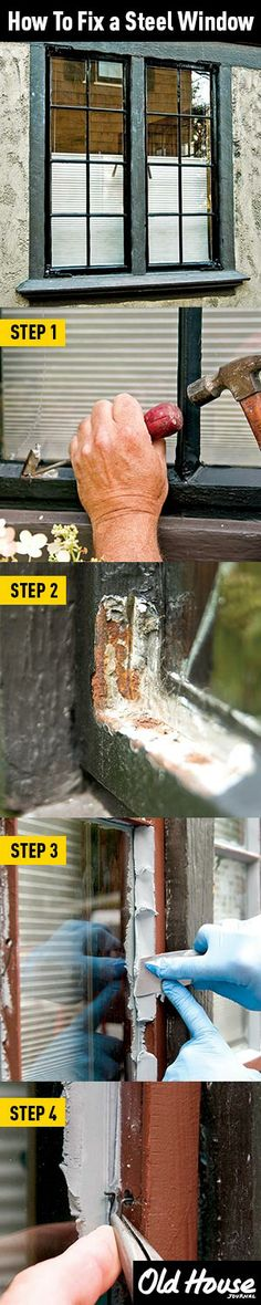 Repair a steel casement window (Photos: Andy Olenick) | Old House Journal DIY Month—30 days of projects sponsored by www.timberlane.com