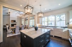 Modern Gourmet Kitchen | Spacious Kitchen Island | Farmhouse Sink | Southern Style Interior Design | Luxury Real Estate Bluffton, South Carolina