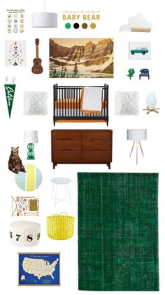 """Baby Bear Nursery by Lay Baby Lay Joni of Lay Baby Lay designed a boys' nursery with touches of the outdoors in her """"baby bear"""" nursery design. - Joni of Lay Baby Lay designed a boys' nursery with touches of the outdoors in her """"baby bear"""" nursery design. Baby Boy Nursery Themes, Bear Nursery, Baby Boy Rooms, Baby Boy Nurseries, Baby Room Decor, Nursery Room, Nursery Ideas, Nursery Inspiration, Inspiration Boards"""