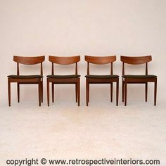Set Of 4 Retro Teak Dining Chairs By G- Plan Vintage 1960's