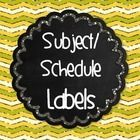 Use these labels for all kinds of things! folders, plans, organize work for the week, library bins of books, display your class schedule, etc.   Ot...