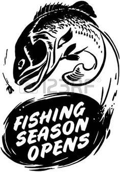 fifties retro: Fishing Season Opens