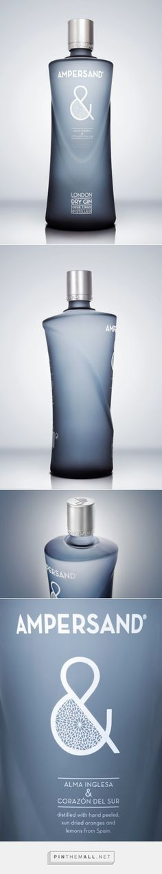 Ampersand #Gin distilled with oranges and lemons, #packaging designed by Grupo Berro - http://www.packagingoftheworld.com/2015/04/ampersand-gin.html
