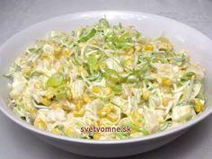 Zelerový fit šalát • Recept | svetvomne.sk Dutch Recipes, Russian Recipes, Raw Food Recipes, Salad Recipes, Cooking Recipes, Healthy Recipes, Borscht Soup, Cabbage Salad, Healthy Snacks