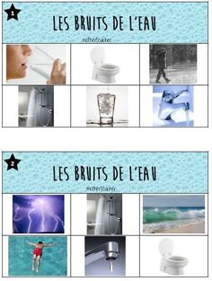 Loto sonore, les bruits de l'eau Petite Section, Grande Section, Primary Science, Social Science, Social Skills Activities, Preschool Activities, Special Kids, Children With Autism, How To Speak Spanish