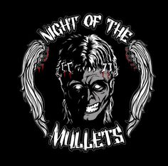 Night of the Mullets logo design by fateair Lausanne, Logo Inspiration, Mullet Hairstyle, Mullets, Island Design, Creature Design, Logo Design Contest, Logos, Rock And Roll