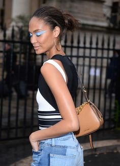 The Many Bags of Celebrities at the Paris Couture Week Fall 2016 Shows Joan Smalls, Couture Week, Fashion Seasons, Fall 2016, Couture Fashion, Paris, Dahlia, Celebrities, Miu Miu