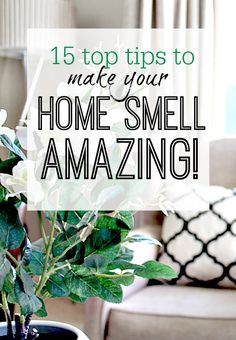 How to make your home smell amazing so you aren't afraid to walk through your own front door or have guests over. Treat yourself!