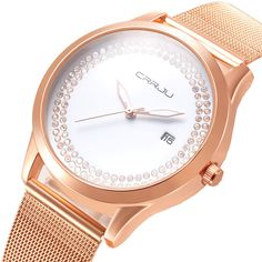 $10.99 (Buy here: http://appdeal.ru/96g7 ) Fashion Design CRRJU Luxury Brand golden watch women watches casual Minimalist Wristwatches Stainless steel Women's dress Watch for just $10.99