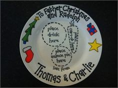 Win a personalised plate to leave a mince pie & drink for Santa and a carrot for the reindeer!