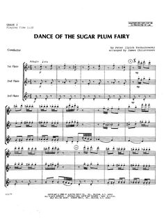 Dance of the Sugar Plum Fairy (Flute Trio&nb | J.W. Pepper Sheet Music