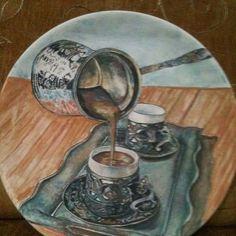 plate Glazed Pottery, Glazes For Pottery, Ottoman, Tile Art, Mosaics, Plates, Painting, Porcelain Ceramics, Licence Plates