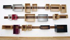 Schieberegal, gli scaffali in legno di Lutz Hüning