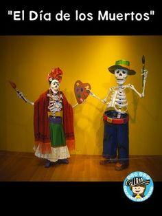 """Free powerpoint to introduce """"El Día de los Muertos"""" celebration in Spanish class! #Day of the Dead # Día de Los Muertos"""