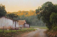 """Alexandre Reider - """"Linha italiana em São Miguel do Oeste"""", óleo s/tela, 40x60cm, 2012"""