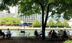 Riverfront dining in Chicago - wouldn't this be great on the Zumbro?