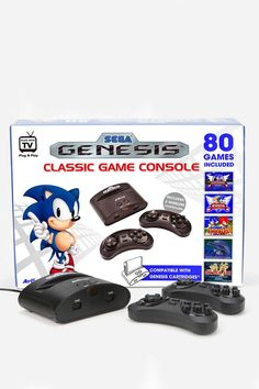 Pin for Later: This Season's Coolest Techie Gifts For Kids SEGA Genesis Wireless Game Console Talk about a throwback! Relive the memories with this classic Sega console ($68), which comes with two wireless controllers and 80 built-in games.