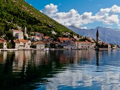 Perast, Montenegro, has the most incredible views of the Gulf of Kotor, the perfect place to stop for an ice cream