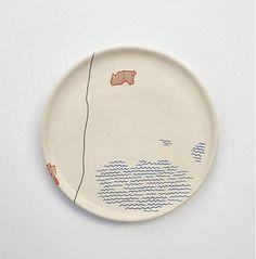 modranska / tanier stredný mapa Maps, Plates, Ceramics, Tableware, Licence Plates, Ceramica, Dishes, Pottery, Dinnerware