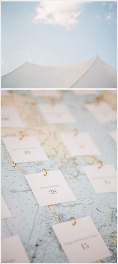 What about instead of a nautical map have a flight map, and instead of fish hooks little airplane or wing push pins?