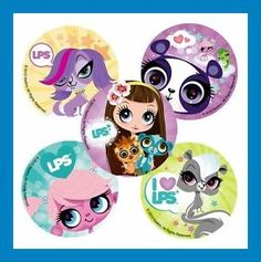 16 Littlest Pet Shop & Blythe Stickers Party Favors Price Sticker, Sticker Shop, 4th Birthday, Birthday Parties, Birthday Ideas, Little Pet Shop, Lps, Party Favors, Minnie Mouse