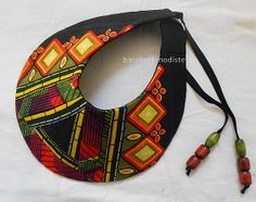 Unique statement collar Striking African Bib by BarefootModiste, $32.00