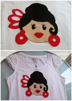 Camiseta flamenca junio 2012 #patchwork #moda