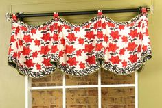 Claudine Valance by Pate-Meadows Designs. I prefer the posts method for this valance because we have a window that is close to a corner.