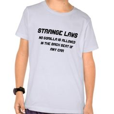Strange laws tee shirts