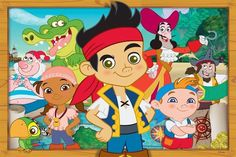 "Jake And The Neverland Pirates Banner Poster 24"" x 36"" - Great Birthday Gift! #Cartoon"