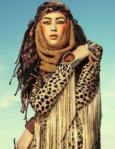 Gens Du Voyage: nomadic inspiration- leopard prints and head wraps