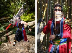 Final Fantasy Cosplay: Final Fantasy X 10 Auron Cosplay - Shawn Tuffy from Negativedreamer Costuming as Auron Cosplay