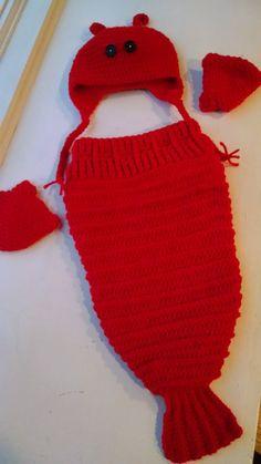 pattern baby lobster halloween costume knit a bit crochet away