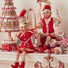 NEW Raz 16 Posable Gingerbread Baker Elves Christmas Figures 3702378 Blue Christmas Decor, Diy Christmas Garland, Silver Christmas, Christmas Elf, Christmas Decorations, Christmas Kitchen, Christmas Cookie Jars, Christmas Quotes, Navidad Diy